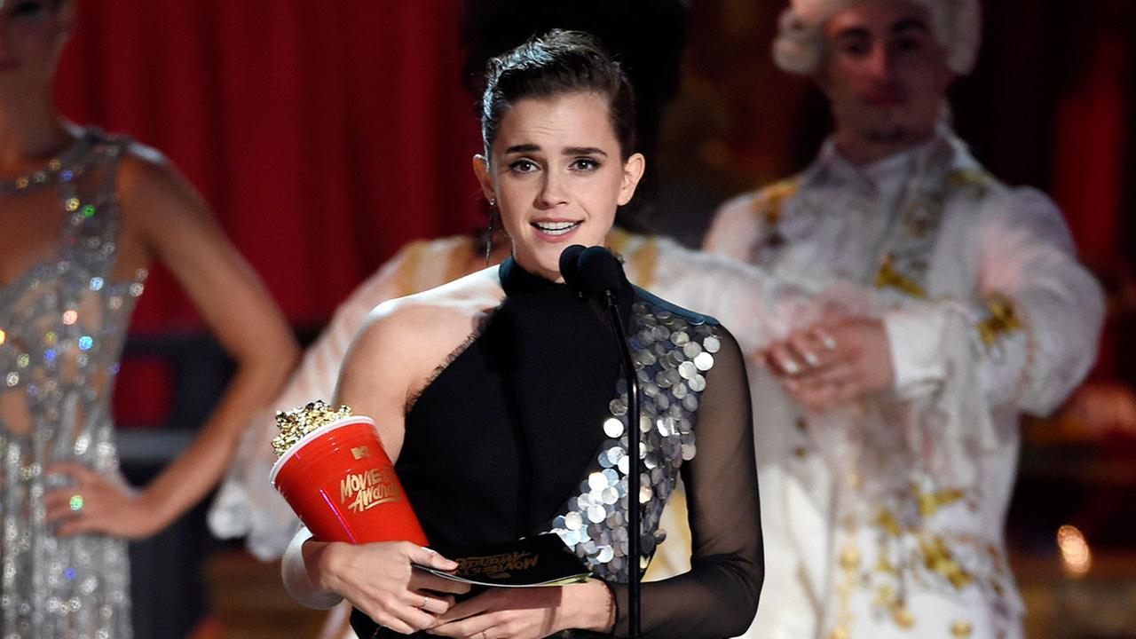 Emma+Watson+inspires+the+nation+with+her+speech+at+the+MTV+Movie+Awards.