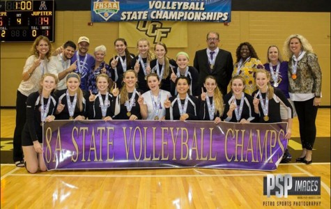 Girl's volleyball wins the state championship!
