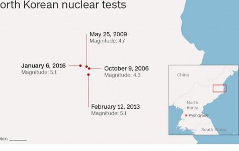 North Korea announces nuclear bomb test