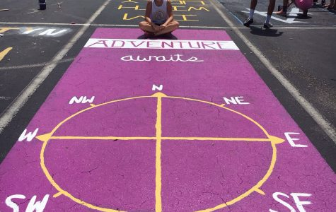 Painted Parking Spots Boosts School Spirit