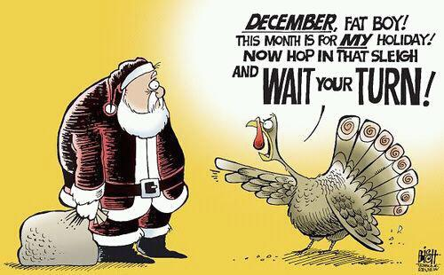 The hype of Christmas sometimes overlaps with the celebration of Thanksgiving.