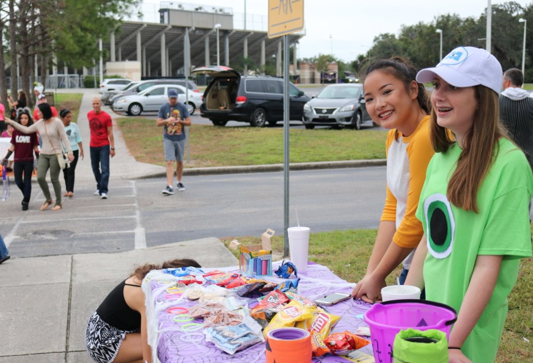The Winter Springs High School Beta Club hosted their first Trunk or Treat, and hope to continue it in the future.