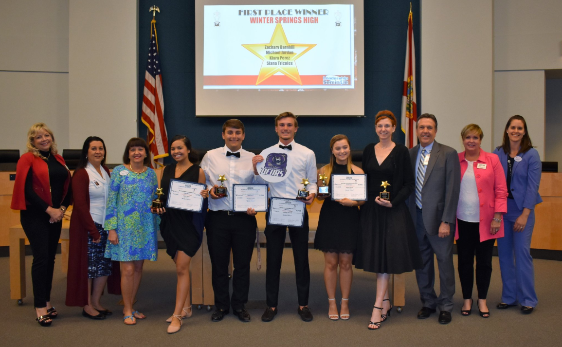 The WSHS TV Production team won the Leadership Seminole Character Key Video Contest.