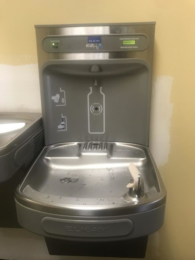 Water station installed in front office