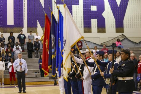 Winter Springs High School honored those who are currently serving in the US military through an assembly on Veteran